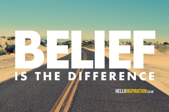 belief-is-the-difference-road